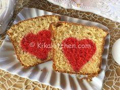Plumcake con cuore rosso o al cacao. Ricetta passo passo