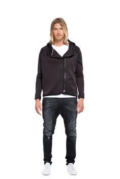 EVAN SCUBA JACKET <BR> in Black