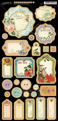 Graphic 45 - Time to Flourish - Journaling Chipboard