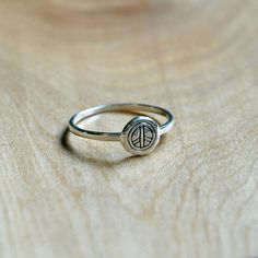 Sterling silver peace ring Hippie Rings, Skinny Rings, Minimalist Jewelry, Bohemian Jewelry, That Way, Jewelry Shop, Sterling Silver Jewelry, Smooth, Peace