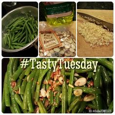 TOASTED ALMONDS + GREEN BEANS