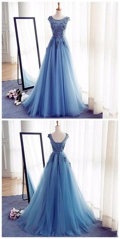 Appliques A-Line Prom Dresses,Long Prom Dresses,Cheap Prom Dresses, Evening Dress Prom Gowns, Formal Women Dress,Prom Dress