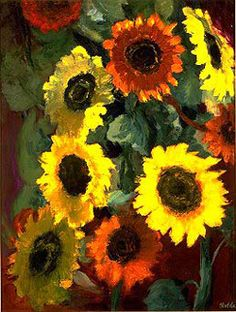 Emil Nolde, Glowing Sunflowers (1936)
