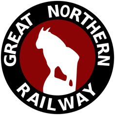 Logo for Great Northern Railway. James J Hill formed the railway in 1889.