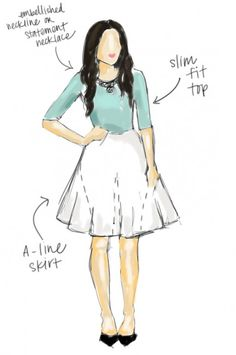 5 Common Body Types and Tips for Styling Each. I was already kind of following this, but it is a good reminder.