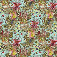 Spring Floral Seamless Abstract fabric by amy_g on Spoonflower - custom fabric