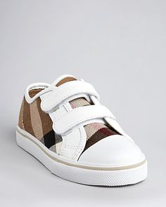 Burberry Toddler Boys' Pete Check Low Top Velcro Sneaker, Sizes 5.5-7 Infant; 7.5-9.5 Toddler | Bloomingdale's