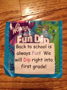 Back to school treat using Fun Dip!!