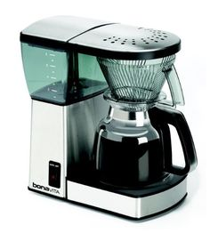 If you are looking for a great coffee machine with a glass carafe, then the Bonavita might be your choice. This Bonavita coffee maker is one of the few that got certified for quality and performance by the SCAA (Specialty Coffee Association of America). Coffee Brewer, Coffee Mugs, Espresso Coffee, Italian Espresso, Coffee Gifts, Coffee Cafe, Mixer, Best Drip Coffee Maker, Just In Case