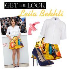 Get the Look : Leila Bekhti by mathildebounhol on Polyvore featuring polyvore fashion style Topshop Carven Alexandre Birman Elizabeth Arden Victoria Beckham