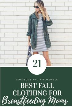 The best fall fashion outfit ideas for nursing moms. If you are a breastfeeding mom you will love these cute breastfeeding shirts, dresses, nursing scarfs and more and all are perfect for fall!