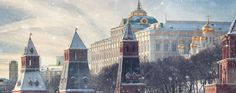 Moscow Kremlin Cathedral winter landscape embankmentMoscow Kremlin Cathedral winter landscape embank... - Kichigin/Getty Images