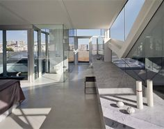 White Concrete Floor Design Ideas, Pictures, Remodel, and Decor Concrete Bathroom, Bathroom Red, Concrete Floors, Master Bathroom, Rooftop Design, Concrete Interiors, Ceramic Floor Tiles, Tile Floor, Polished Concrete