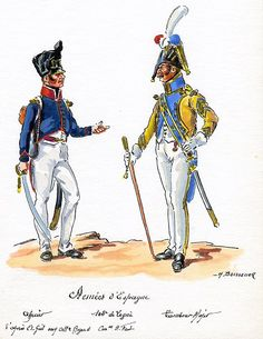 French; 100th Line Infantry, Drum Major & 112th Grenadier Sergeant in Spain