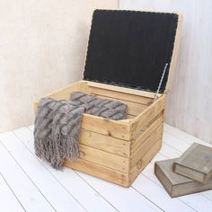 Coffee Sack Upholstered Padded Storage Crate Seat