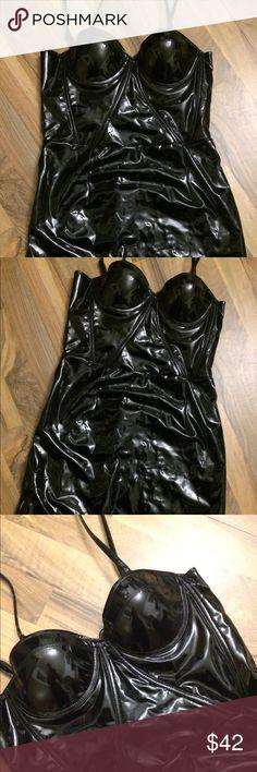 Daya by Zendaya Latex Mini Dress LIMITED EDITION DAYA BY ZENDAYA LATEX MINI BUSTIER TANK DRESS - NWT! 🖤🙈 Daya by Zendaya Dresses