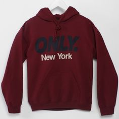 Only NY Red Hooded Sweatshirt