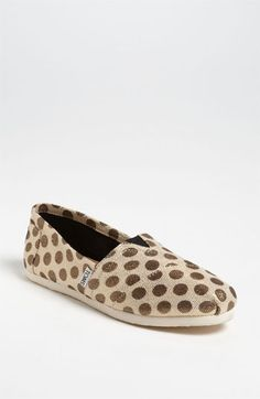 TOMS 'Classic - Metallic Dot' Slip-On (Women) (Nordstrom Exclusive) | Nordstrom