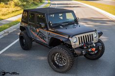 JKU Rocking Deep Dish 22 Inch Fuel Off-road Rims Wrapped With 37 Tires