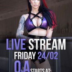 👉🏼 New date 🎀 I will be live streaming on Friday (Facebook) If you have anything you'd like to know about me or what I do you can comment it on my Q&A picture a few pictures down in my feed👇🏼💋 #livestreaming #friday #latex #lingery #gloves #fetishmodel #latexmodel #alternative #girl #inked #tattooart #legtattoo #tattoogirl #redhair #piercings #dontmissthis #starfucked Photographer: @danielkopp_photo 💖