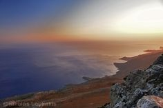 "The view from the summit ""Kofinas"" to Libyan sea..."