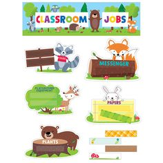 CLASSROOM JOBS MINI BB SET WOODLAND