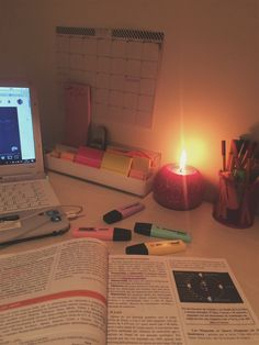 ":"") Studying at night"