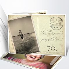 Jung geblieben 70 Creative Cards, Polaroid Film, Prints, Vati, Diy, Ursula, Birthday Ideas, Party, Grandpa Birthday