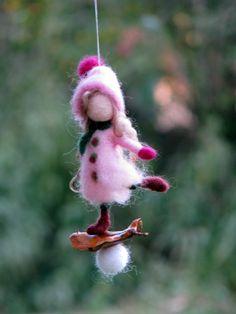 Ornamento di Natale fata Ago infeltrito ornamento bambola