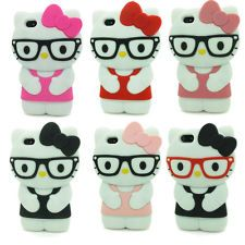 3D Cartoon Cute Hello Kitty Soft Silicone Case Cover Skin for Apple iPhone 5 5S
