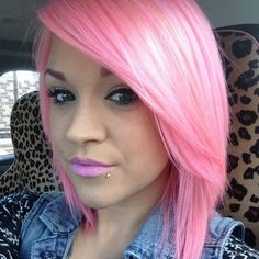 """used ion color brilliance """"rose"""" + pravana pastel pink (because the color brilliance is too thick) + and added a little ion color brilliance magenta to brighten it up"""