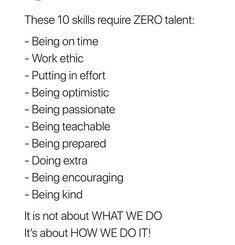 10 Skills That Require ZERO Talent: · MoveMe Quotes