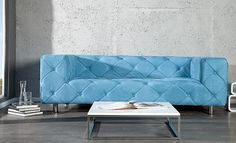Love Blue, Sofas, Love Seat, Design Inspiration, House Design, Couch, Furniture, Home Decor, Couches