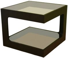 Wholesale Interiors CT-003 Clara Glass Square Side Table - Each