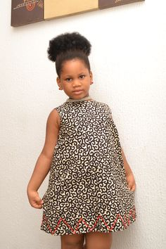 Ankara Kiddie Dress/ African Inspired/ Girl's Dress/ Quality fabric/ Good Finishing/ Made In Nigeria/ African Kid African Attire, African Wear, African Dress, Ankara Dress, African Print Fashion, African Fashion Dresses, Ankara Fashion, African Outfits, Chitenge Outfits