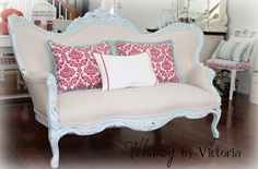 great painted vintage sofa