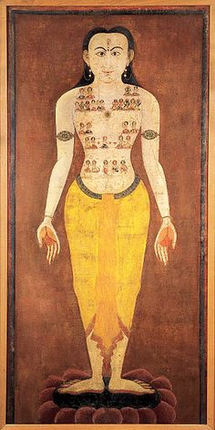 Purusa or Purusha: the Cosmic Yogi  #thanka #painting TraditionalArtofNepal.Com