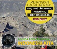 LOMBA FOTO | Destinasi Indonesia KATEGORI - Kategori UMUM dan KELUARGA. Menangkan berbagai hadiah dalam bentuk tiket pesawat, voucher menginap, dan paket perjalanan.
