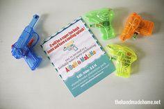 watergun birthday party & free printables | the handmade home