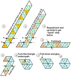 Instructions For Making Hexaflexagons Hexaflexagons Are Paper
