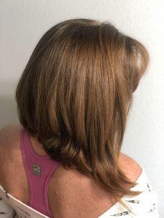 - Women& Haircut Before and after A Line Haircut! Source by VagaroPins. Medium Long Hair, Long Layered Hair, Medium Hair Cuts, Short Hair Cuts, Long Curly Haircuts, Trendy Haircuts, Girl Haircuts, Thin Hair Styles For Women, Haircut Styles For Women