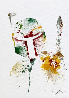 Abstract Paint Splatters of Bob Fett by Arian Noveir