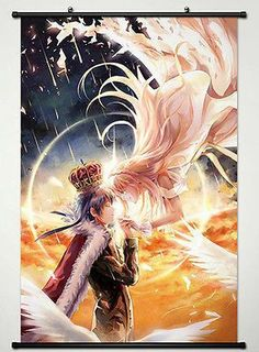 Wall Scroll Poster Painting For Anime Still world is Beautiful Nike & Livius 002