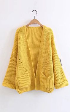 Open Front Drop Shoulder Cardigan