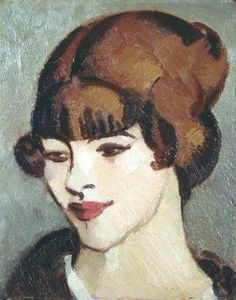 Joan, 1916 by John Duncan Fergusson (Scottish 1874–1961)