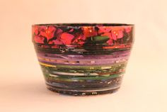 DIY Tutorial - Make a Colorful Art Bowl Out of Recycled Magazines