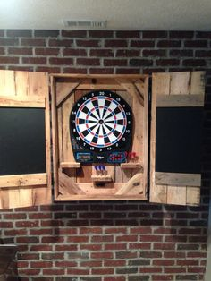 Superbe Rustic Dartboard Chalkboard Cabinet Made From By Blackacedesigns