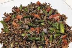 """Barbara Estabrook's Wild Rice 'N Roasted Asparagus, a finalist in our """"Get Wild w/ Wild Rice"""" contest, is 1 of 12 recipes up for People's Choice award! Vote your favorite at link below & check out Barb's recipe! Voting ends Sept. 30. wildricecontest #wildrice #asparagus #rusticfood Fresh Asparagus, Asparagus Recipe, National Beef, Cooking Wild Rice, Cooking Contest, Chicken Cordon Bleu, Cook Off, Good Burger, Entree Recipes"""