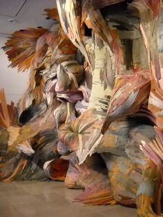 Artist Henrique Oliveira's recycled, reclaimed sculptures.