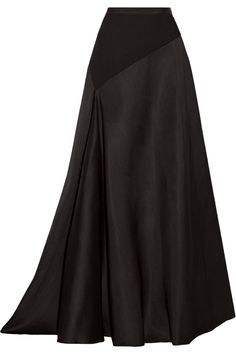 LANVIN Jersey-Paneled Wool And Silk-Blend Maxi Skirt. #lanvin #cloth #skirt
